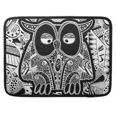Owl,doodle | doodle owl MacBook pro sleeves from Zazzle.com