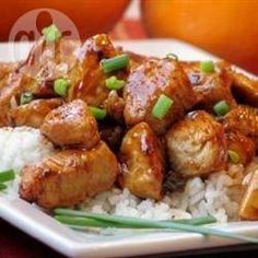 Kip in sinaasappelsaus (orange chicken) @ allrecipes.nl