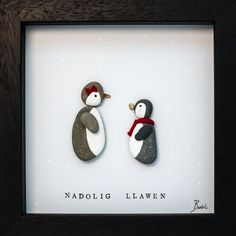 Our penguin pebble art frames are perfect for penguin fans & make a fantastic Christmas gift. All our frames are handmade using naturally sourced materials.