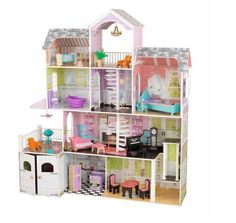 Kids 4 Level Grand Estate Dollhouse 26 Pc Furniture Set Barbie Mansion Playset  New In Box !  This Kids 4 Level Grand Estate Dollhouse is the ultimate playset for your child.  This beautifully designed and spacious dollhouse mansion has 4 level...