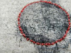mukashikaranokoe: Red Linen Stitch / Dionne Swift (via Pinterest-The Visual Discovery Tool)