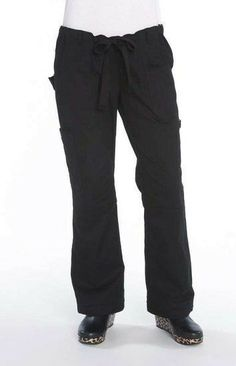 4ea145cff4c 2 Pairs - KOI Scrubs Women's Lindsey Low-Rise Cargo Scrub Pants Black Size  Small. Medical ...