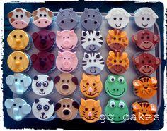 animal cupcakes - gq cakes