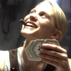 Battlestar Galactica--the hard-drinking, daredevil pilot female Starbuck from the reimagined 21st century version of the concept