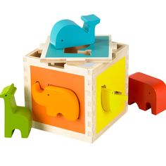 Zoo Shape Sorter | Designed to develop coordination and spark the imagination, with charming animal shapes and brilliant colors.