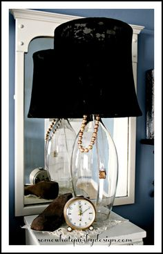 Somewhat Quirky: A Little Black Dress (for my lamps)