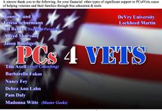 PCs4Vets|Putting PCs in the hands of Veterans  http://www.pcs4veterans.org/