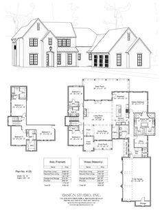 Plan #4125   Design Studio Sims House Plans, New House Plans, Dream House Plans, Modern House Plans, House Floor Plans, Dream Home Design, My Dream Home, Building Plans, Building A House