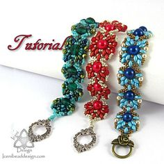 PDF Tutorial Buttercup Bracelet with Super Duo Beads