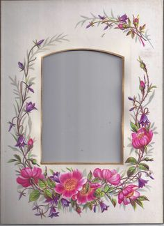 Lovely Chromolithograph Floral Page from Victorian Album
