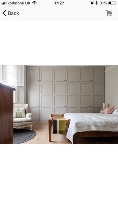 Purbeck Stone farrow and ball Farrow And Ball Bedroom, Devon House, Paint Colours, Colors, Bedroom Furniture, Bedroom Decor, Purbeck Stone, Side Extension, Barn Kitchen