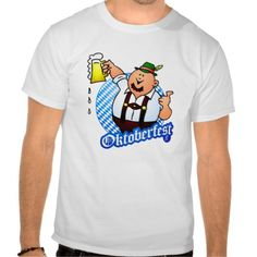 Oktoberfest - man in lederhosen shirt. #Zazzle #Cardvibes #Tekenaartje #Wiesn