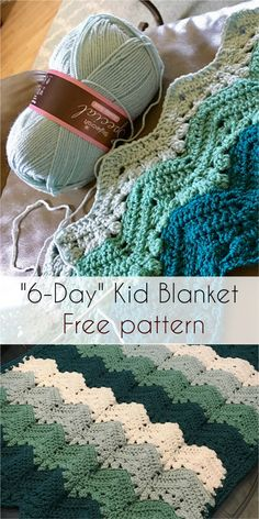 6-Day Kid Blanket - Free pattern! #freepattern #crochet #yarn #crochetlove