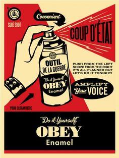 """""""Obey Coup D'etat"""" Art Print by Shepard Fairey    ObeyGiant.com."""