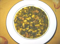 Beans with Spinach (Lubya b' Selk).   THE LIBYAN  Esther Kofod  www.estherkofod.com