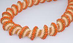 Kette, Halskette, orange R11 von kreativrausch-kiel auf DaWanda.com