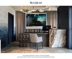Blue Jean marble one of the world's most unique and desired natural stone.   Blue Jean marble, which will provide you with a space beyond your time, is waiting for you with all its coolness.   With this excellent marble from nature, you can decorate your home or workplace as you wish.