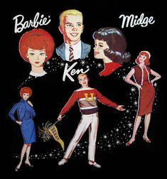 Vintage Vinyl Barbie Midge Ken Doll Cases by MyLifeInPlastic.com, via Flickr