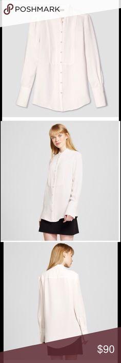Victoria Beckham white long sleeve blouse White long sleeved button down blouse Victoria Beckham Tops Blouses