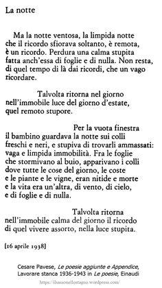 * Cesare Pavese, Le poesie (Einaudi) (immagine: Notte al Po - foto di Maurizio Quintavalle, dal web)