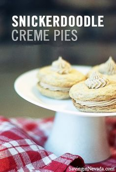 We love these easy Snicker-doodle Creme Pies -- perfect for a summer party treat!