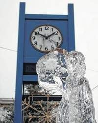 The Abington Business and Professional Association's 11th Annual Clarks Summit Festival of Ice, sits in front of the clock tower in downtown Clarks Summit during the ABPA's Home for the Holidays Open House in November. The event will be held Feb. 13-16, 2015 at various downtown locations.