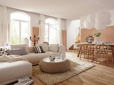 Un salon zen / A peaceful livingroom : http://www.maison-deco.com/salon/deco-salon/Deco-Zen/Des-couleurs-nature