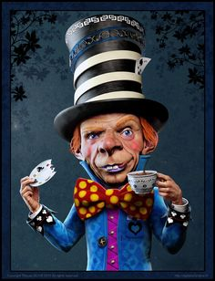 Alice in wonderland -The Mad Hatter- by Titouan OLIVE
