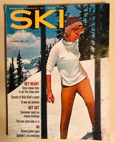 Ski Magazine, One Color, Skiing, November, Baseball Cards, Sports, Fashion, Ski, November Born