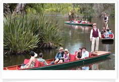 Punting in the Melbourne Botanical Gardens - only until the end of April?