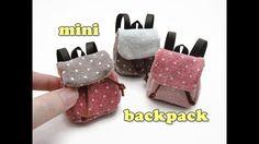DIY Miniature Doll Accessories Mini Backpack School Bag - Functional - N...