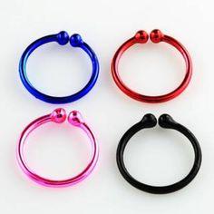 Clip circular - piercing falso - Plata 925 en colores
