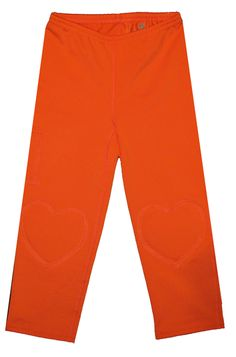 Orange Capri Leggings