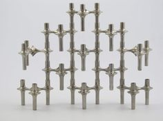 11 nagel candle holders design vintage stackable bmf by decirculo
