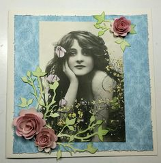 Card made with Marianne die and download picture from Lunar Girl #graphic45 papers