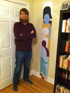 For my geeky parent friends -- Dad Makes Custom Sci-Fi Character Growth Chart For Daughter's First Birthday