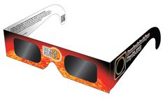 Eclipse Glasses - Solar Eclipse CE Certified Safe Shades - Black Frame