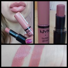 nice Lip combo Wet n Wild Bare it all lipstick and NYX butter gloss in Tiramisu! Nyx Lip, Lipstick Dupes, Makeup Dupes, Lipstick Colors, Lip Makeup, Lip Colors, Beauty Makeup, Nyx Butter Lipstick Swatches, Lipsticks