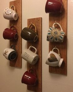 Diy Cup Holder Ideas Are Functional And Inspiring bar ideas party bevera. - Diy Cup Holder Ideas Are Functional And Inspiring bar ideas party beverage stations Diy Cup - furniture diy apartments Coffee Mug Storage, Coffee Mug Holder, Coffee Cups, Coffee Cup Rack, Coffee Mug Display, Coffee Coffee, Coffee Shop, Tea Cups, Home Decor Ideas