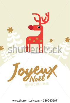 Stock vector chinese year of goat with traditional chinese calendar joyeux noel means merry christmas in french white christmas reindeer christmas invitation christmas stopboris Gallery