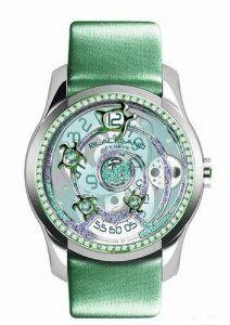 Blacksand Geneve Continuity SeaTurtle Emerald Ladies Watch