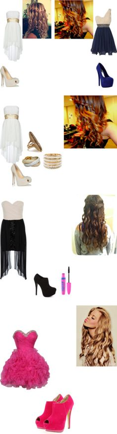 """""""Cute outfits for party's & Dances at school !! :)"""" by iconic-macbarbie07 ❤ liked on Polyvore"""