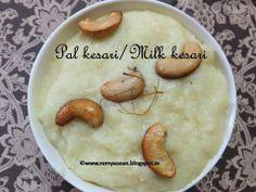 Remmy's Kitchen: Pal kesari/Milk kesari