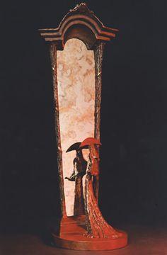 Through a Glass Darkly. Philip Jackson sculpture.