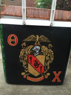 Theta Chi Crest Painted Fraternity Cooler