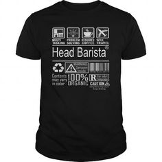 Make this awesome proud Barista:  Best Head Barista - Multitasking-front Shirt as a great gift Shirts T-Shirts for Baristas
