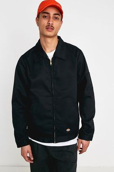 """Dickies – Jacke """"Eisenhower"""" in Schwarz Urban Outfitters, Pop Fashion, Fashion Trends, Front Runner, Models, Bomber Jacket, Shirt Dress, Mens Tops, Shirts"""