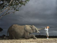Beautiful Animal Photos by Tim Flach    child and friend.
