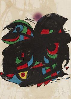 """Joan Miró Litografía """"Fundació Joan Miró"""" Año: 1976 Dimensiones: 70 x 50 cm Tirada de 99 ejemplares Ejemplar firmado, fechado y dedicado a mano Certificada por la Fundació Joan Miró Mourlot Nº 1090 Precio: Consultar Web  Web: www.grabadosylitografias.com Más información y consultas: galeria@grabadosylitografias.com"""