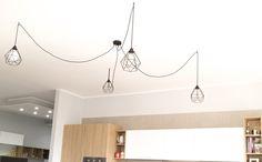 LAMPADE CREATIVE CABLES #lampade #idea #illuminazione #design #metallo #vintage #nero #black #arredamento #cucina #modern #sospensione #inspiration #kichens #italy #madeinitaly #spider #spidereffect